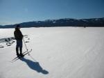 A solitudinous ski.
